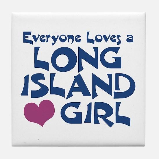 Long Island Girl Tile Coaster