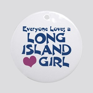 Long Island Girl Ornament (Round)
