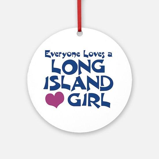 Long Island Girl Ornament (Round)