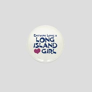 Long Island Girl Mini Button