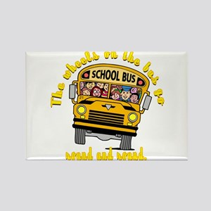 School Bus Kids Rectangle Magnet