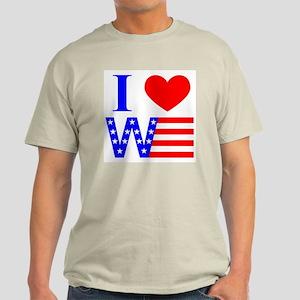 I Luv W Ash Grey T-Shirt