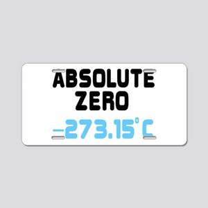 ABSOLUTE ZERO, -273.15c Aluminum License Plate