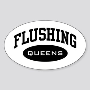Flushing Queens Oval Sticker