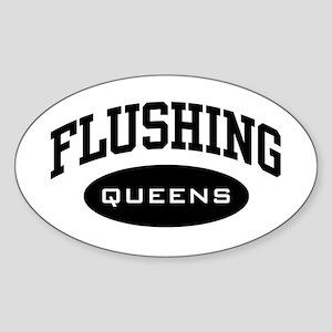 Flushing Queens Oval Sticker
