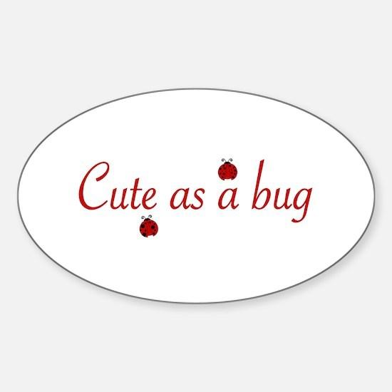 Cute as a Bug (2008) Oval Decal
