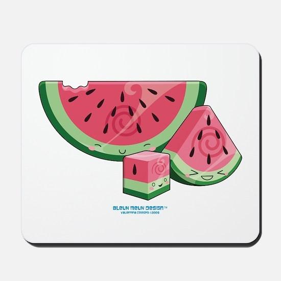 Kawaii Watermelon Trio Mousepad