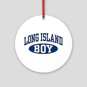 Long Island Boy Ornament (Round)