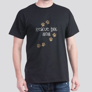 Rescue Dog Mom Dark T-Shirt