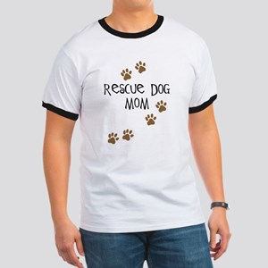 Rescue Dog Mom Ringer T