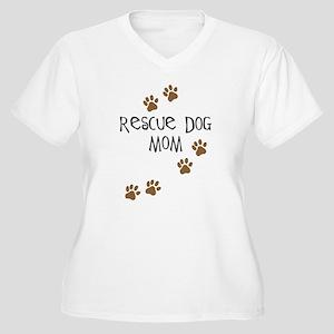 Rescue Dog Mom Women's Plus Size V-Neck T-Shirt