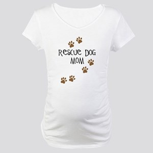Rescue Dog Mom Maternity T-Shirt