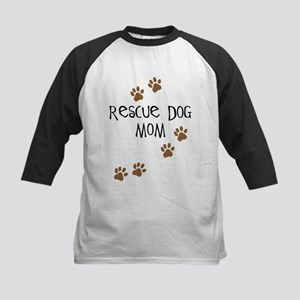 Rescue Dog Mom Kids Baseball Jersey