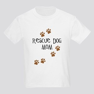 Rescue Dog Mom Kids Light T-Shirt