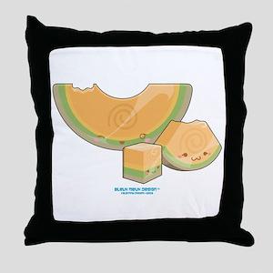 Kawaii Cantaloupe Trio Throw Pillow