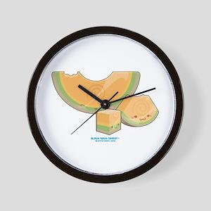 Kawaii Cantaloupe Trio Wall Clock
