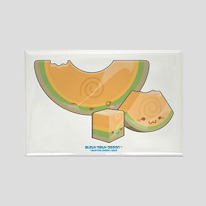 Kawaii Cantaloupe Trio Rectangle Magnet