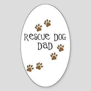 Rescue Dog Dad Oval Sticker