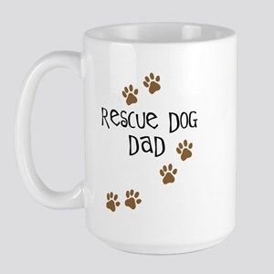 Rescue Dog Dad Large Mug