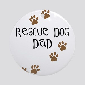 Rescue Dog Dad Ornament (Round)