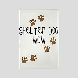 Shelter Dog Mom Rectangle Magnet