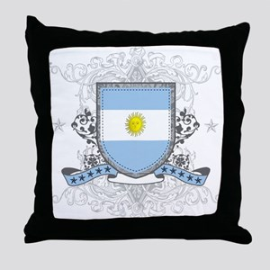 Argentina Shield Throw Pillow