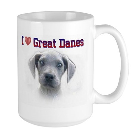 I Love Great Danes Large Mug