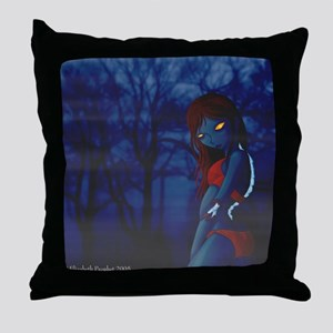 Dead Girl Throw Pillow