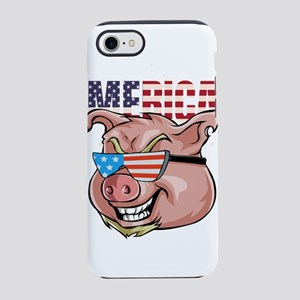 4th Of July Pig Merica iPhone 8/7 Tough Case