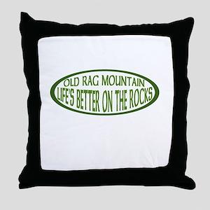 ont the rocks Throw Pillow