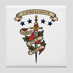 Love Compliance Tile Coaster