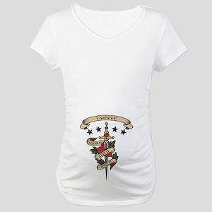 Love Coffee Maternity T-Shirt