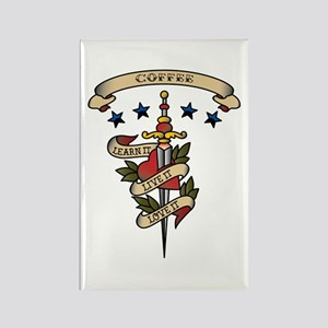 Love Coffee Rectangle Magnet