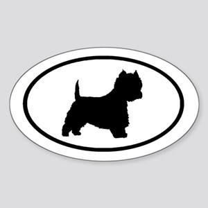 West Highland Terrier Oval Oval Sticker
