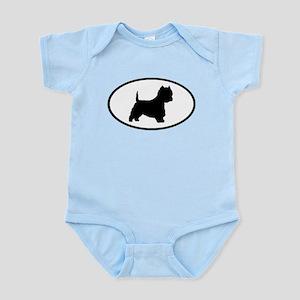 West Highland Terrier Oval Infant Bodysuit