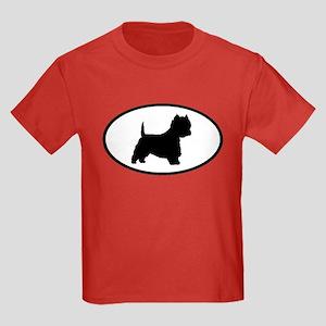 West Highland Terrier Oval Kids Dark T-Shirt