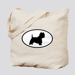 West Highland Terrier Oval Tote Bag