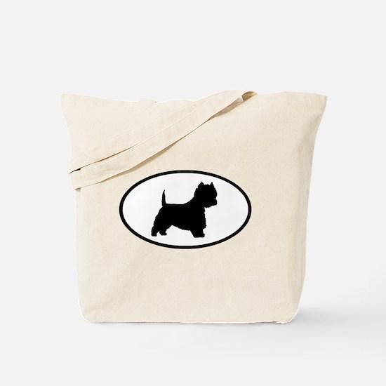 West Highland Terrier Oval Tote Bag
