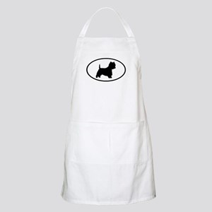 West Highland Terrier Oval BBQ Apron