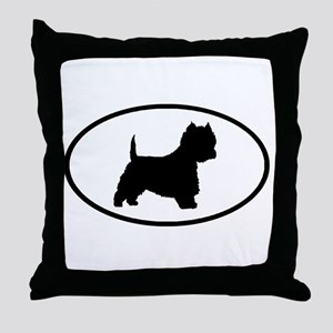 West Highland Terrier Oval Throw Pillow