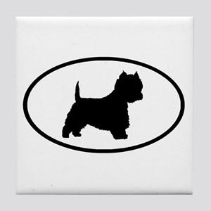 West Highland Terrier Oval Tile Coaster