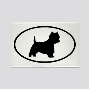 West Highland Terrier Oval Rectangle Magnet