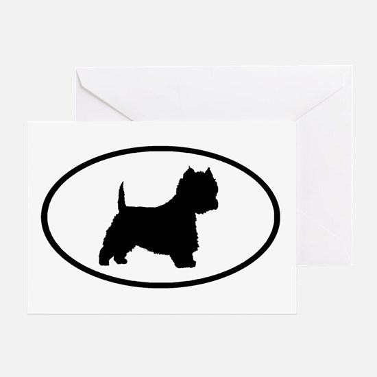 West Highland Terrier Oval Greeting Card