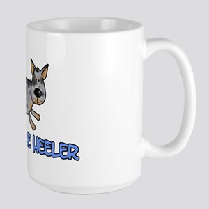 i love my blue heeler Large Mug