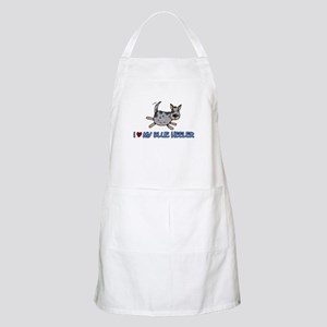 i love my blue heeler BBQ Apron