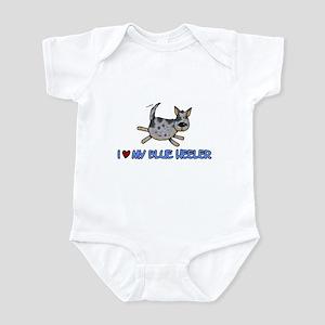 i love my blue heeler Infant Bodysuit