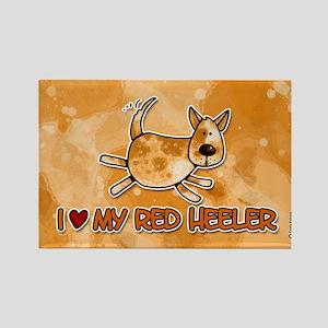 i love my red heeler Rectangle Magnet