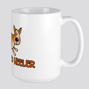 i love my red heeler Large Mug