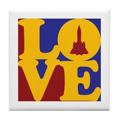 Aerospace Engineering Love Tile Coaster