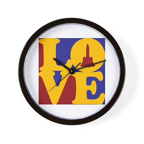 Aerospace Engineering Love Wall Clock
